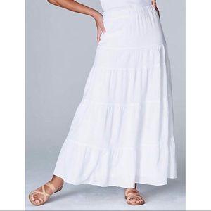 J. Jill Tiered Ruffle Maxi Skirt